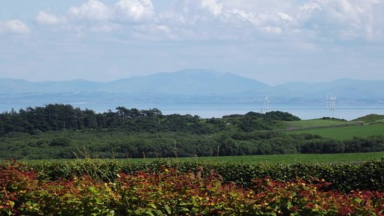 Auchencairn, UK: Cumbrian hills beyond the Solway Firth ...