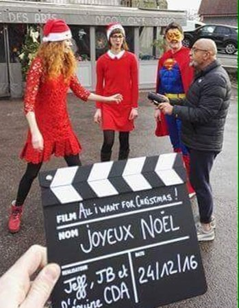 Beaumont-en-Auge, Francia: Tournage du clip de noel
