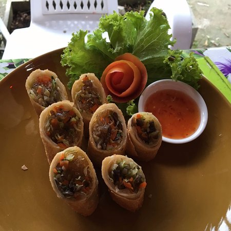 Thai Spring Rolls With Decoration Picture Of Thai Cooking Lessons