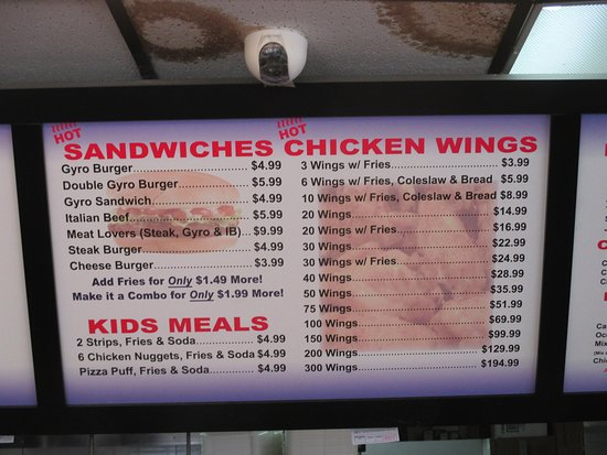 Hook Fish and Chicken: More menu
