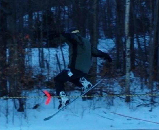 Warren, VT: Small snowboard terrain slope also.