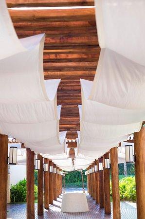 The St. Regis Punta Mita Resort: Sea Breeze Beach Club Entrance