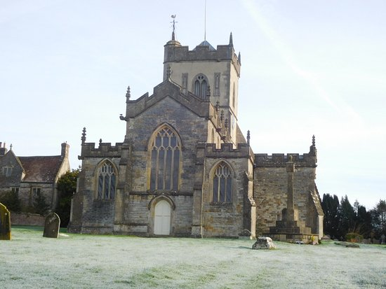 Ditcheat, UK: The village church...