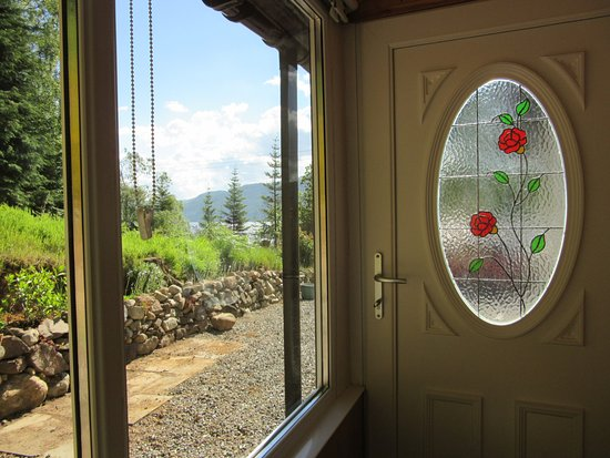 Glenmoriston, UK: view of Loch Ness from bedroom