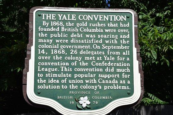 Yale, Canadá: Schild