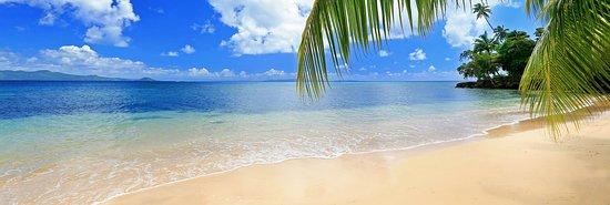 Matangi Island, ฟิจิ: Resort beach frontage