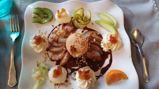 Quettehou, França: Dessert : Belle Hélène