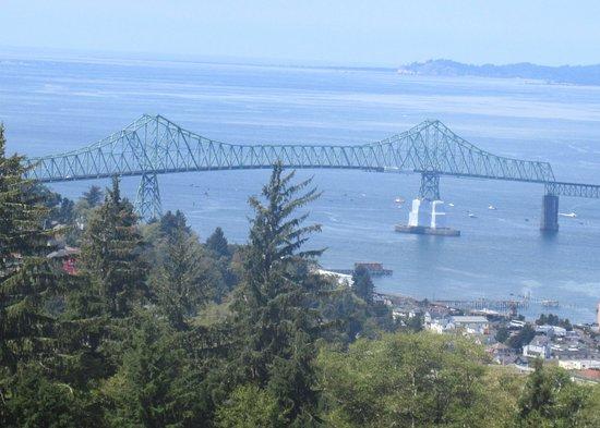 View from Astoria Column of the Astoria Megler Bridge Astoria