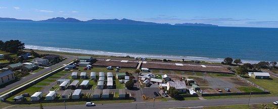 Swansea Holiday Park  Schouten Beach: Aerial view of Swansea Holiday Park and Schouten Beach
