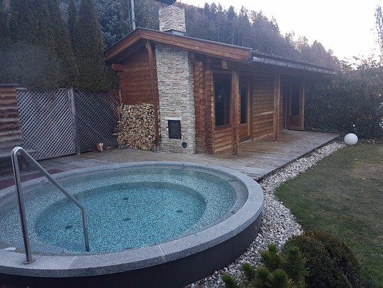 Sauna in giardino e vasca idromassaggio foto di hotel for Vasca giardino
