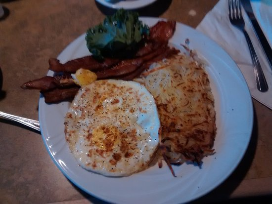 Beaver, UT: A variety of sizes for breakfast 2 eggs. 3 bacon and hash browns