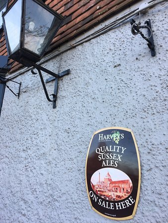Pembury, UK: Harveys Sussex ales on site. This, alone, is reason enough to book a room here
