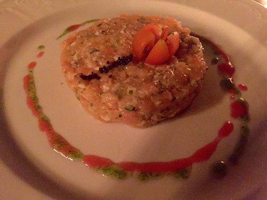 Cal Sagrista: Tartar de salmon