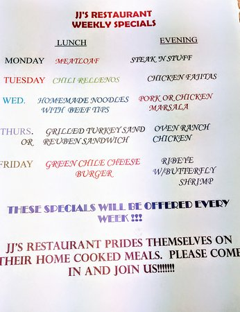 Eads, CO: DAILY SPECIALS