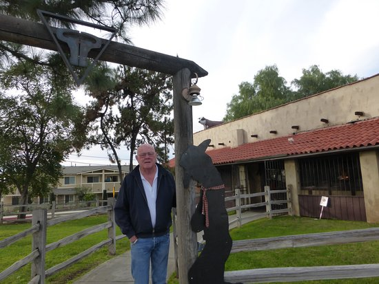 San Dimas, CA: At teh front gate.