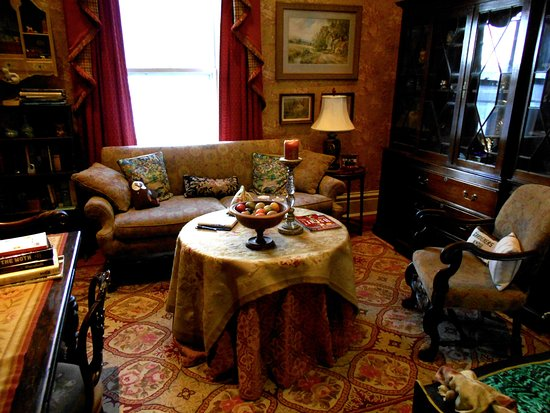 Rome, NY: The Morning Room: a small intimate sitting room on the ground floor...