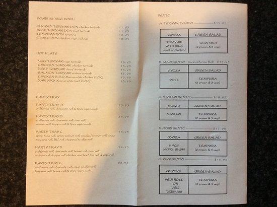 menu picture of garden sushi japanese restaurant. Black Bedroom Furniture Sets. Home Design Ideas
