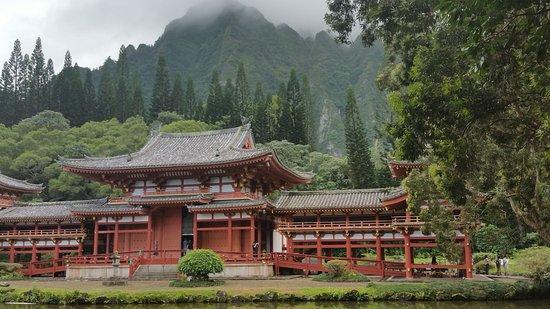 Kaneohe, HI: Byodo-In Temple in the mist.