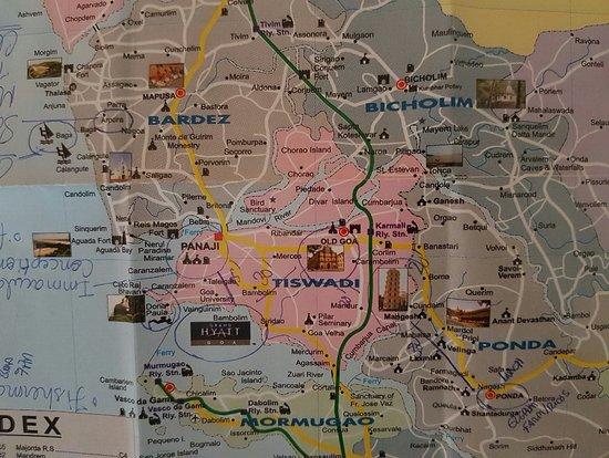 Goa Map Picture of Grand Hyatt Goa Bambolim TripAdvisor
