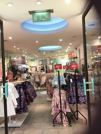 A small indoor shopping complex outside Edinburgh with free