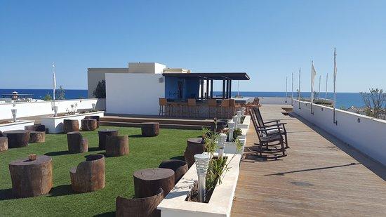 Pervolia, Cyprus: roof terrace - only in eveings