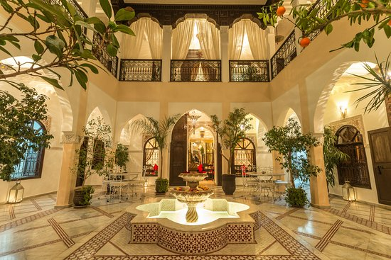 Vue Patio - Picture Of Riad Nasreen  Marrakech