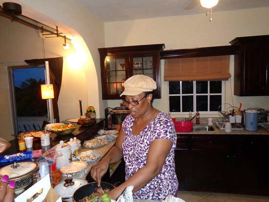 Jamaican Christmas Food.Jackie Cooking A Traditional Jamaican Christmas Dinner For