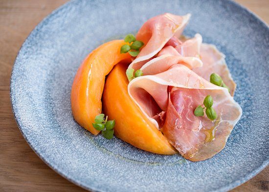Wye, UK: Compressed Melon and Serrano Ham