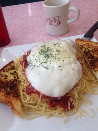 Rosie's Diner: Chicken Parmesan - enough for two people!
