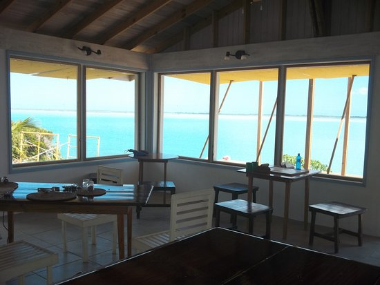 North Caicos: The view from the restaurant