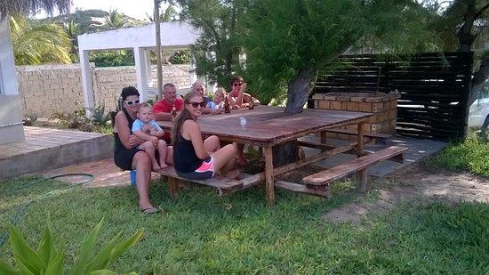 Tofinho, Mozambique: Chill outside casa Isabel