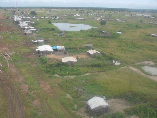 Abyei, Sudan: вид с вертолёта