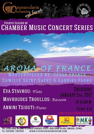 Erimi, Cyprus: AROMA OF FRANCΕ 'Commandaria Orchestra and Friends' Concert Series