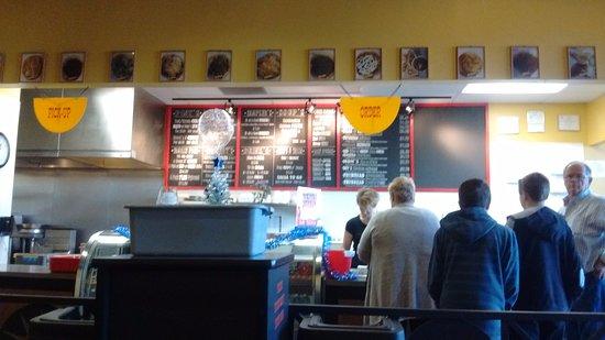 Avondale, AZ: menu selection at counter where you place orders