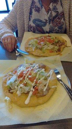 Avondale, AZ: mothers frybread at top and arizona frybread at bottom