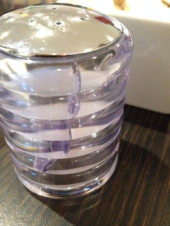 Chesterton, UK: Cracked salt pot