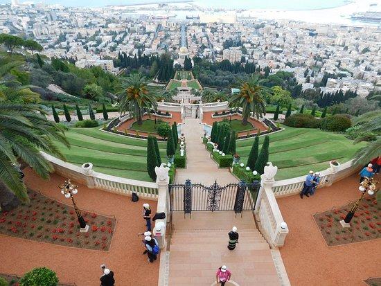 Dan Panorama Haifa: Looking down Mount Carmel