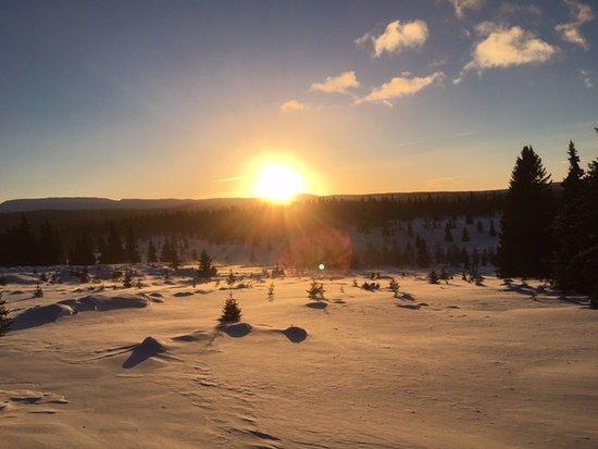 "Municipio de Ringebu, Noruega: From ""Gumpen"" towards ""Fagerhøy"" and Peer Gynt road"