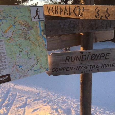Municipio de Ringebu, Noruega: Even maps in the runs make it easy to find your way home.