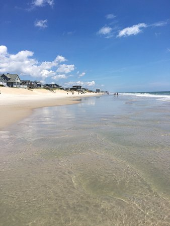 Surf City, Carolina del Norte: The beach on Topsail Island