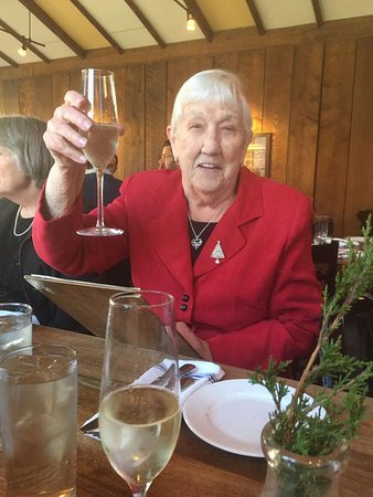 Oyster Club: I hope I can live to 90 and look this good! Happy birthday Mom!