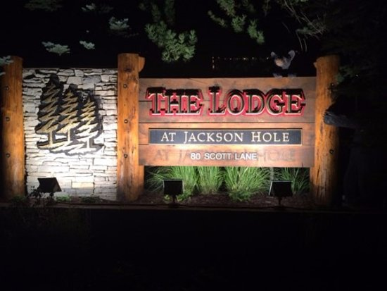 The Lodge at Jackson Hole: Hotel sign