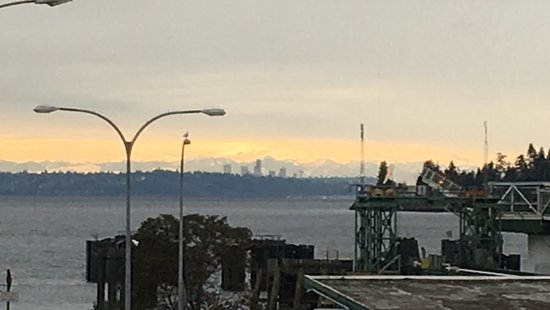 Kingston, Waszyngton: The View!  Downtown Seattle in the distance