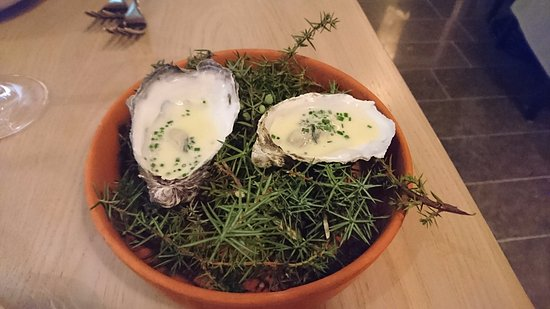 Lund, Sverige: First course: oyster