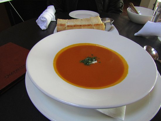 Teahouse in Stanley Park: carrot soup