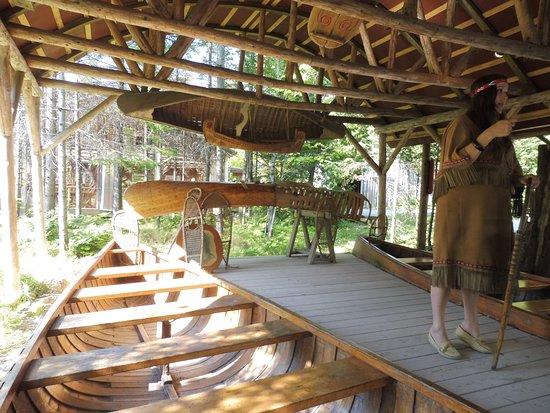 Wendake, Kanada: la vie des indiens Hurons