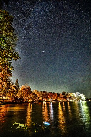 Deerwood, MN: A brilliant night sky. Billions of reasons to vist Ruttger's.