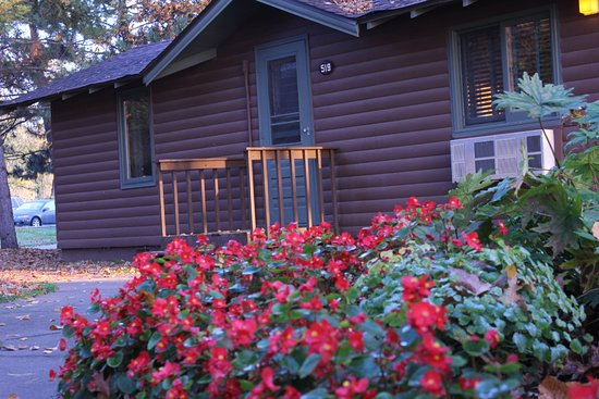 Deerwood, MN: Our rustic cabins are traditional up north accommodations.
