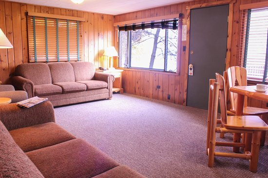 Deerwood, MN: Inside a typical Ruttger's cabin. Traditional, rustic, up north.
