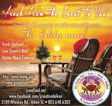 Aiken, SC: Enjoy delicious fresh seafood from JCs at your holiday table!